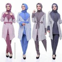 EndoModa Setelan Atasan Dan Bawahan YD-22 Kaos Wanita Baju Muslim