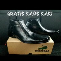 Sepatu Kerja Kantor Formal Pria Crocodile Retsleting Ku PREMIUM F1000