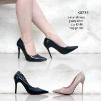 Jual KODE K0735 New Arival High Heel Pantofel Pump shoes Import  Murah