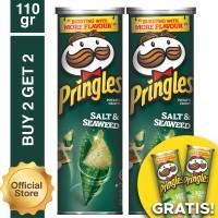 [Buy 2 Get 2 Free] Pringles Salt Seaweed 110gr Free Sour Cream 110gr