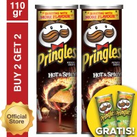 [Buy 2 Get 2 Free] Pringles Hot&Spicy 110gr Free Sour Cream 110gr