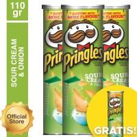 [Buy 3 Get 1] Pringles Sour Cream & Onion 110gr (As4-PE11011-888646710