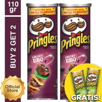 [Buy 2 Get 2 Free] Pringles Barbeque 110gr Free Sour Cream 110gr