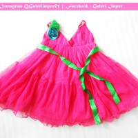 Dress Pesta Ulang Tahun | Birthday | Baju | Anak Perempuan Impor Pink