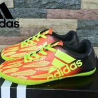 sepatu futsal untuk anak adidas x techfit maroon yellow import vietnam