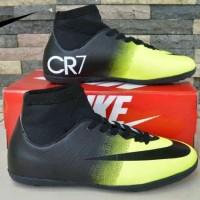 sepatu futsal dewasa nike mercurial cr7 black yellow import vietnam