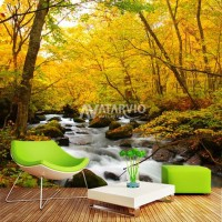 Wallpaper Custom Murah - Wallpaper Dinding Custom Pemandangan Alam 3d