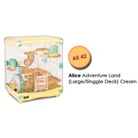 AE42 Alice Adventure Land Large Double Deck Cream Kandang Hamster