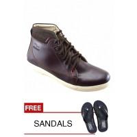 REDKNOT MONSTA BROWN + Bonus Sandal Senilai Rp.25.000,0 Murah