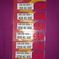 KARTU PERDANA THREE AON 6GB+12GB TRI PAKET INTERNET KUOTA