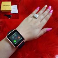 Smartwatch LED unisex cewek cowok bisa connect HP