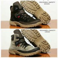 jual Sepatu gunung kickers boots Safety besi hitam coklat