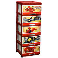 Napolly Drawer Plastik 5 Susun Karakter Spiderman SFC2 5000 Murah SBY