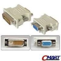 Konektor Converter DVI D 24+1 Male to VGA Female 15pin - GEC-DV241MVGF