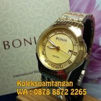 JAM TANGAN WANITA BONIA BNB10280-2227 GOLD ORIGINAL GARANSI RESMI