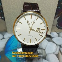 JAM TANGAN PRIA BONIA BNR101-1212 GOLD WHITE ORIGINAL GARANSI RESMI