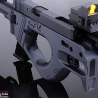 SRU Carbine Pistol SMG for WE G17/G18C/G34/G35 GEN3 GBB (Blue)