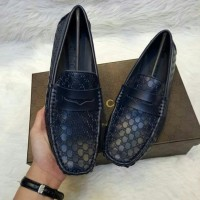 SEPATU GUCCI LOAFER BLACK guccisima MIRROR QUALITY