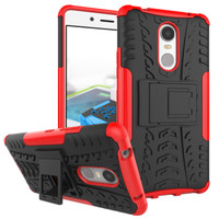 Case Lenovo K6 Note Rugged Armor soft back cover hp anti shock stand