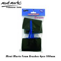 Mont Marte Foam Hobby Brush 100mm Set 4 / Kuas Spons / Spons Hitam