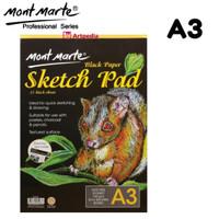 Mont Marte Black Paper Sketch Pad A3
