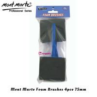 Mont Marte Foam Hobby Brush 75mm Set 4