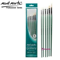 Mont Marte Gallery Series Brush Oil Set 6 / Kuas Lukis