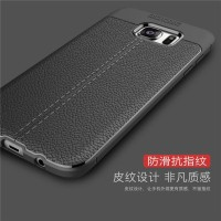 CASING SAMSUNG J7 PRIME/ S7 EDGE LEATHER PREMIUM LITCHI AUTO FOCUS