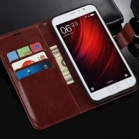 Harga xiaomi redmi 5 plus leather case casing kulit flip wallet | Pembandingharga.com