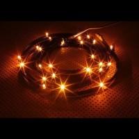 NZXT CB-LED20-OR Light Sensitivity Sleeved LED Kit (Orange)
