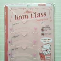 Cetakan Alis isi 3 / Mini Brow Class Drawing Guide you
