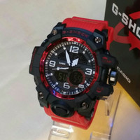 JAM TANGAN G-SHOCK MUDMASTER DOUBLE TIME RED BLACK KWS SUPER