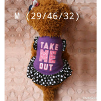 dress anjing kucing take me out size M*D7