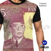 Harga best seller kaos distro idr uang 5 rupiah soekarno umakuka 3d   antitipu.com
