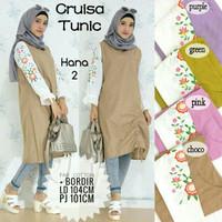 Baju Atasan Wanita Muslim Blouse Cruisa Tunik