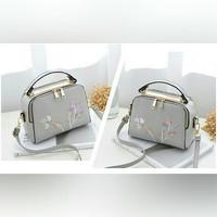 UT1795 handbag bordir 2 ruang, tas import bag batam/sling bag/hand bag
