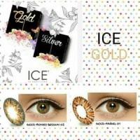 ice gold softlens diameter besar tanpa pinggiran hitam mirip nobluk