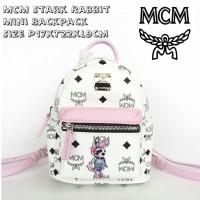 MCM Stark Rabbit Mini Backpack Size P17xT22xL9cm Harga 2.250.000