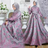 Maxi Gamis Dress Pesta Muslim Hijab HM22992L Fayz Abu fit L+
