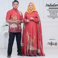 INDADARI COUPLE BATIK SEMISUTRA(busana,pasangan,sarimbit,batik gamis