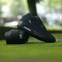 Sepatu Nike Airmax 90 Wanita / Hitam Polos / Sepatu Olahraga Sekolah