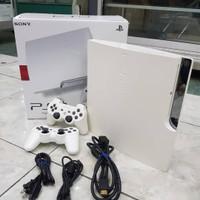 PS3 SLIM CFW S25xxx ANTI YLOD PUTIH/SILVER 500GB FREE GAME
