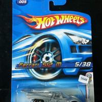 HotWheels Ferrari 512M 512 M Silver Abu Hot Wheels