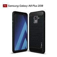 Hard Soft Case Samsung A8+ Plus Casing HP IPAKY Carbon Silikon Armor