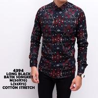 Kemeja Batik Pria Panjang Kerja Kantor Slimfit / Baju Cowok Modern