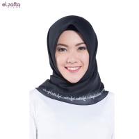 Jual Kerudung Elzatta Hijab Instan E006 Hitam Navy Putih Murah