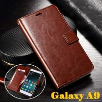Samsung Galaxy A9 Leather Case Casing Kulit Flip Wallet Cover Dompet
