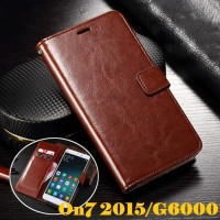 Samsung Galaxy On7 2015 Leather Case Casing Kulit Flip Wallet Cover