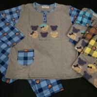 Baju Tidur Anne Claire Bear Family Tangan Panjang Celan Murah