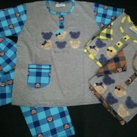 Baju Tidur Anne Claire Bear Family Tangan Pendek Celana Murah